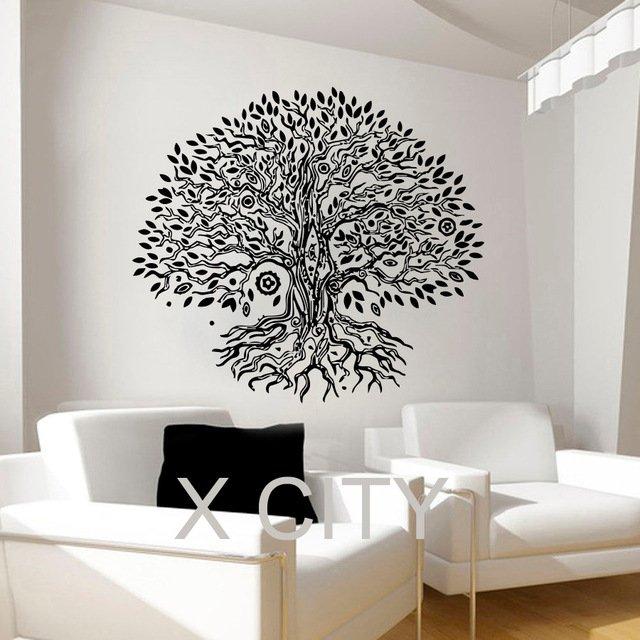 Наклейка на стену с орнаментом в виде дерева XCITY