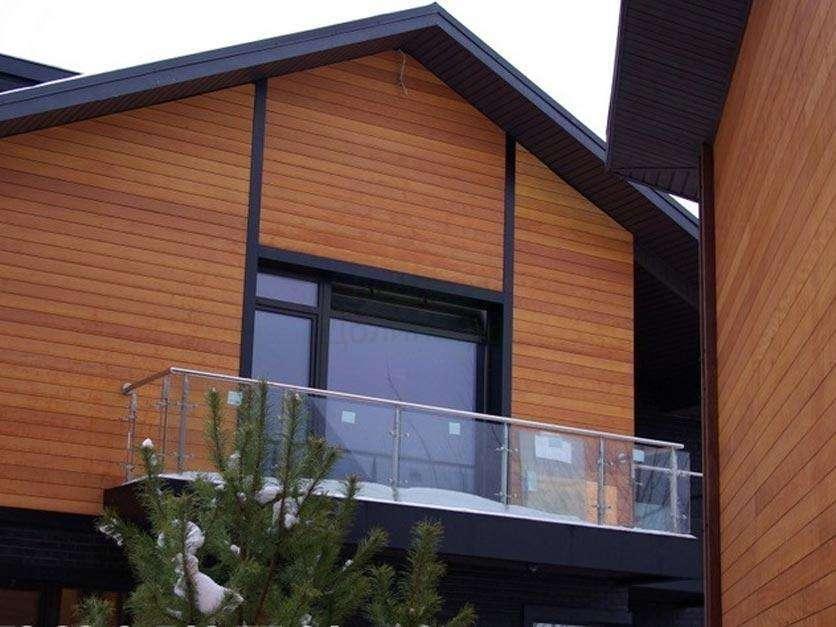 Особенности фасадов домов из планкена