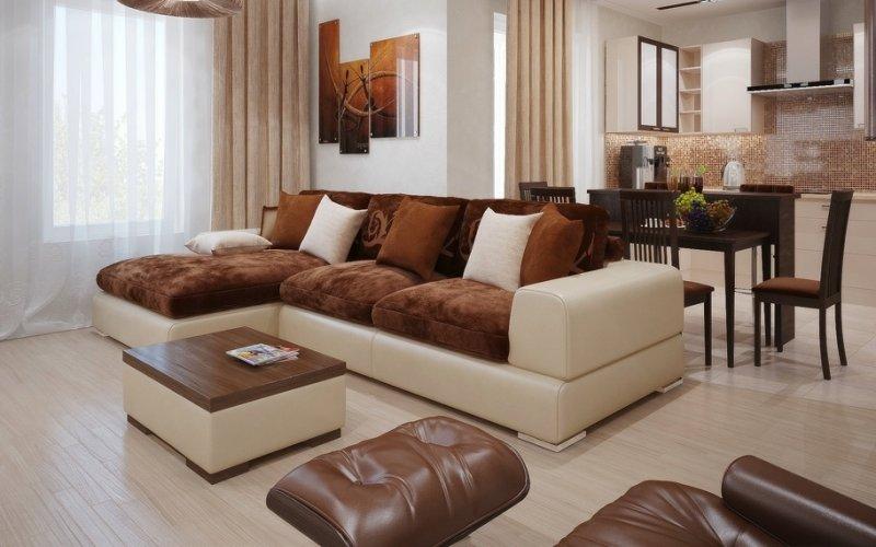 Место дивана в гостиной