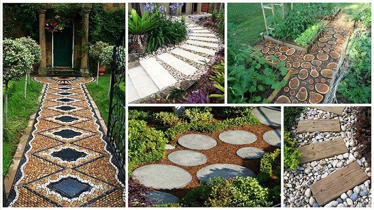 как и из чего сделать садовые дорожки на даче