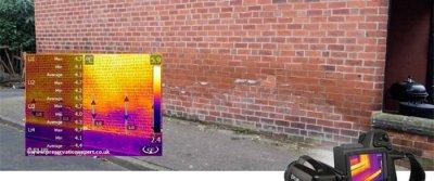 Тепловизор— машина времени для обнаружения влажных участков