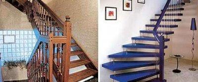 Основные деревянные лестницы
