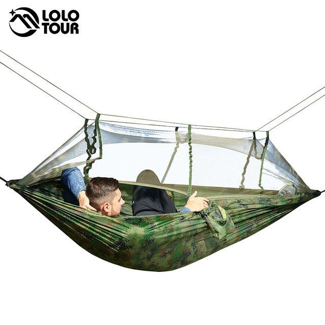 Сверхлегкий гамак с москитной сеткой на 2 человекаLolo tour (макс. 200 кг)