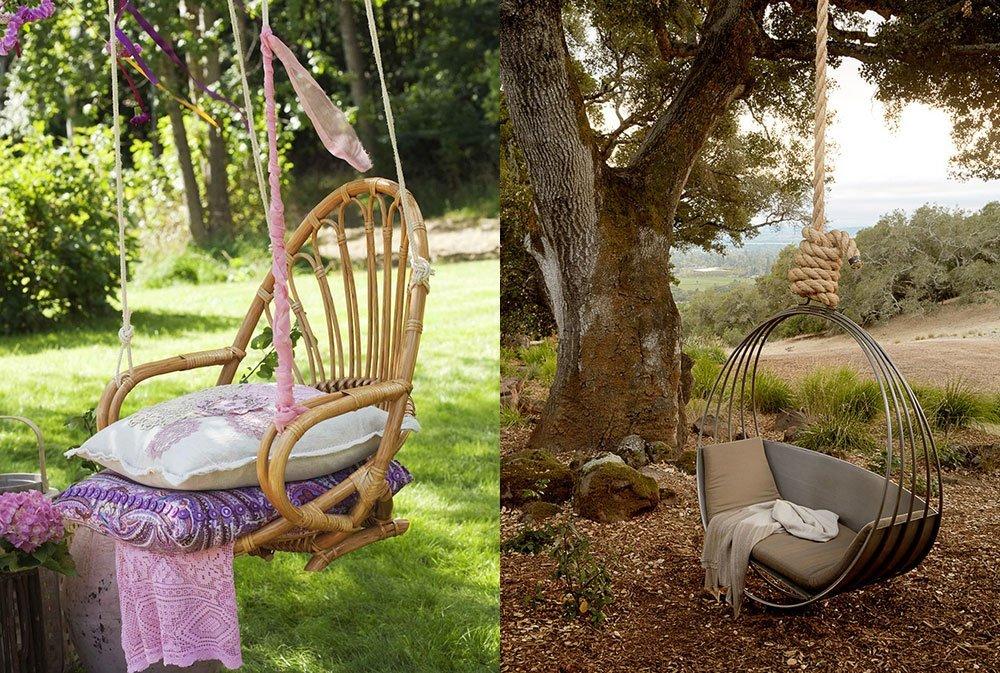 Качели для дачи в виде стула