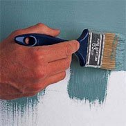 Покраска кистью, кисть для покраски стен