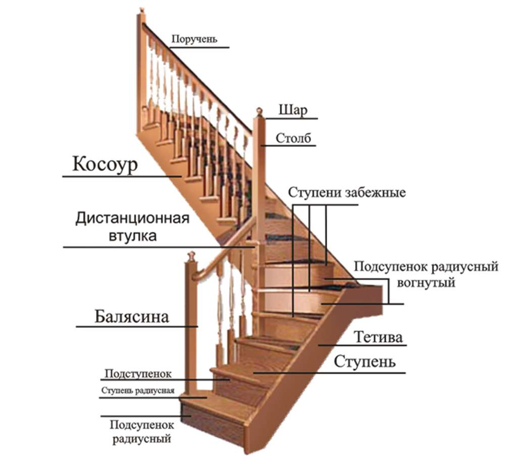основные элементы лестниц фото 3