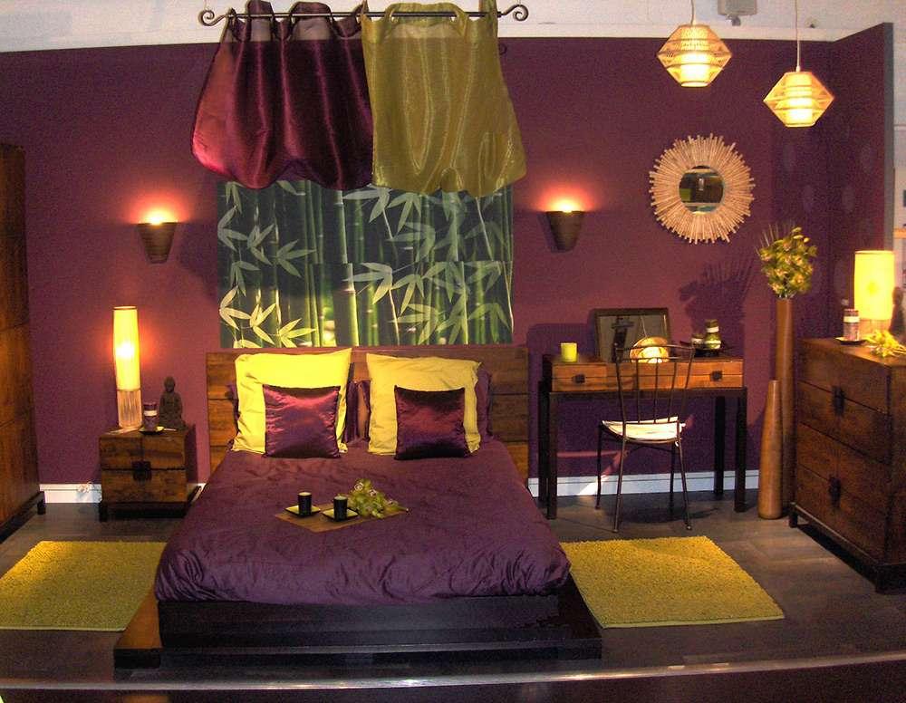 Интерьер спальни в этническом стиле
