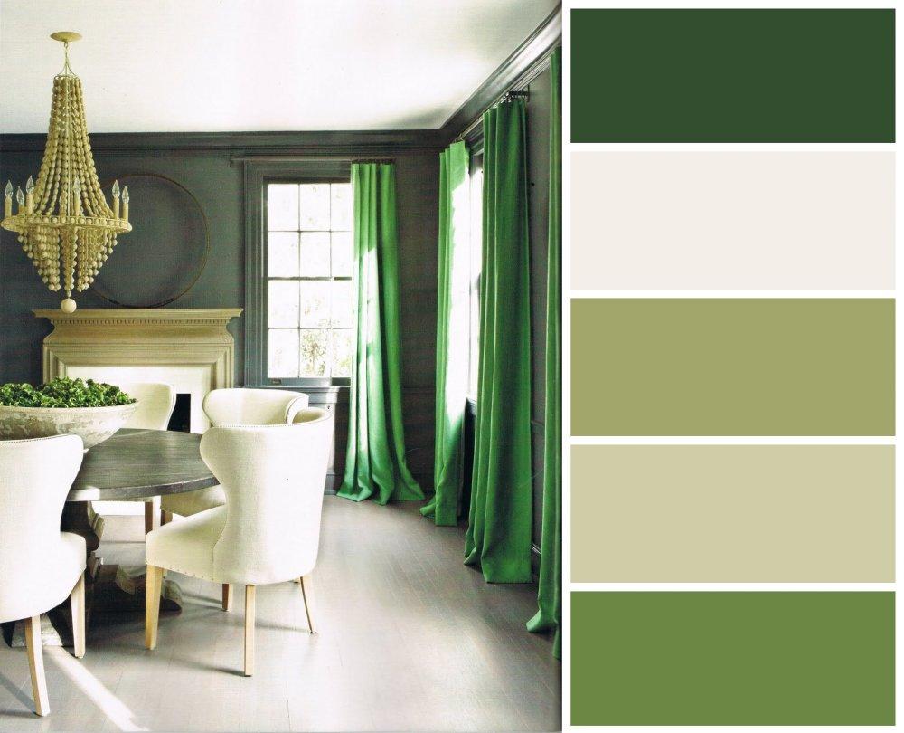 Сочетание с зеленым цветом