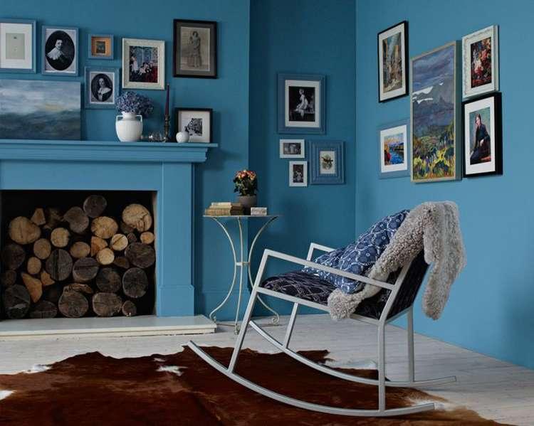 синий цвет в интерьере фото 10