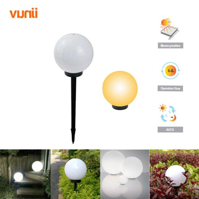 Шарообразные светильники на солнечных батареяхYunji