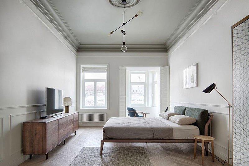 Дизайн узкой комнаты фото 21