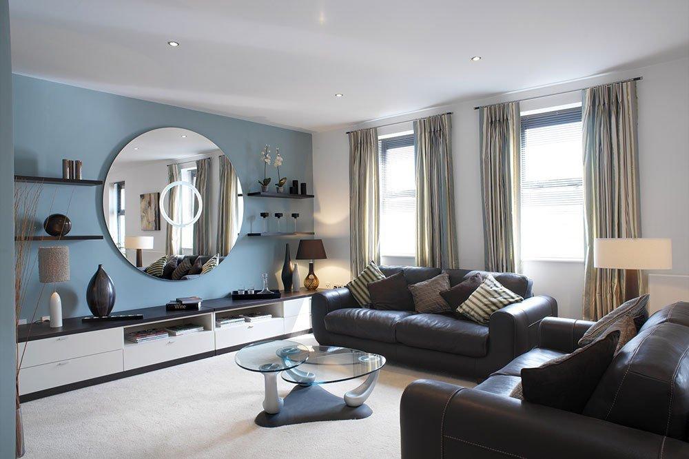 Голубой цвет в интерьере в стиле модерн фото 52