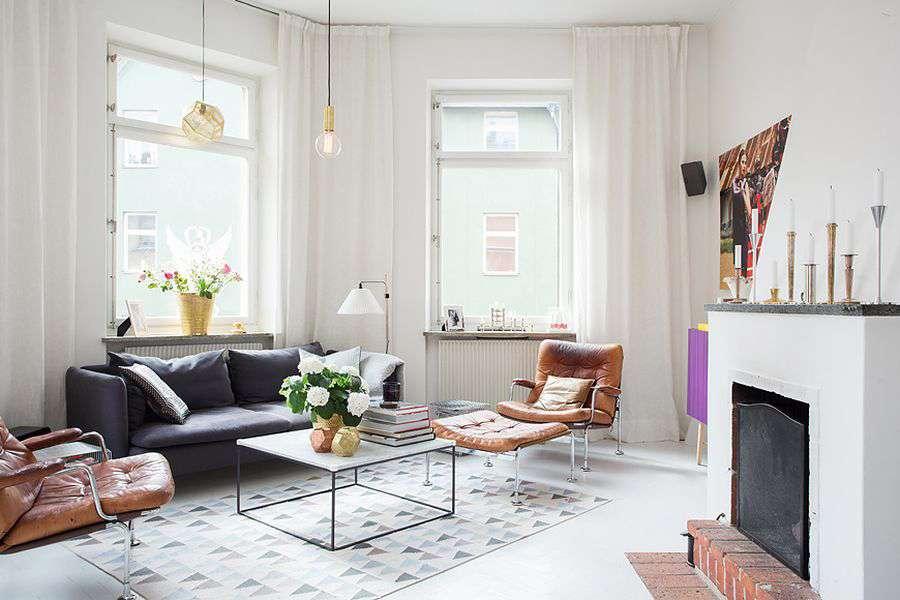 Удобство для хозяина - главная задача при создании скандинавского стиля в интерьере