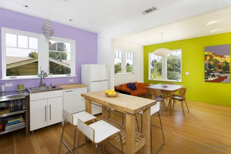 Зонирование комнаты с помощью цвета фото 1