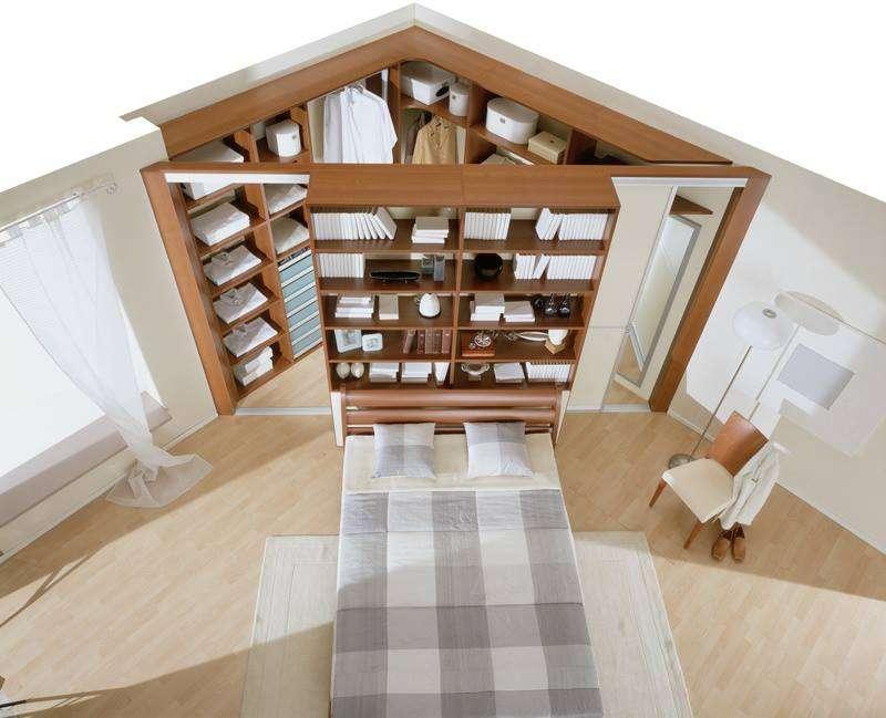 Гардеробные в маленькой спальне: ТОП-10 лучших идей фото 8