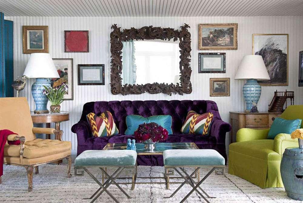 Оригинальный диван в стиле арт-деко