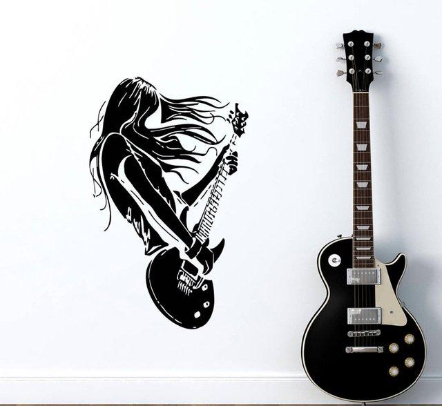 Декоративная наклейка рок-музыкантаYOYOYU ART HOME DECOR