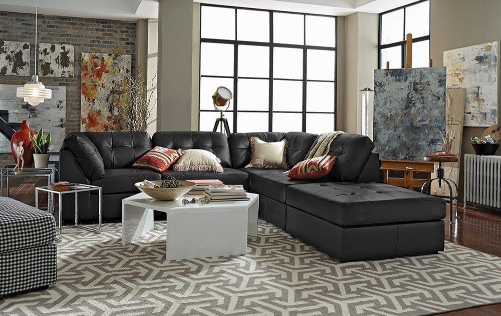 Мягкая мебель для гостиной: 10 идей интерьера фото 08-01