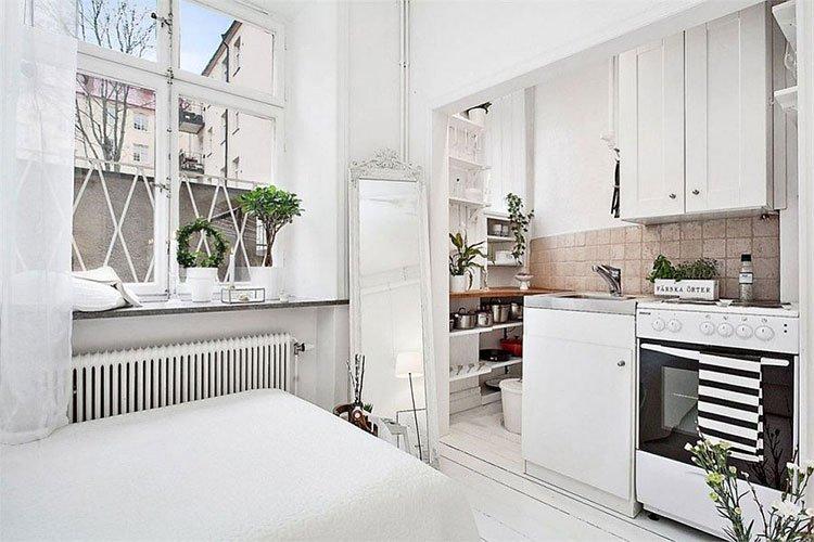 Кухня в белом цвете фото 1