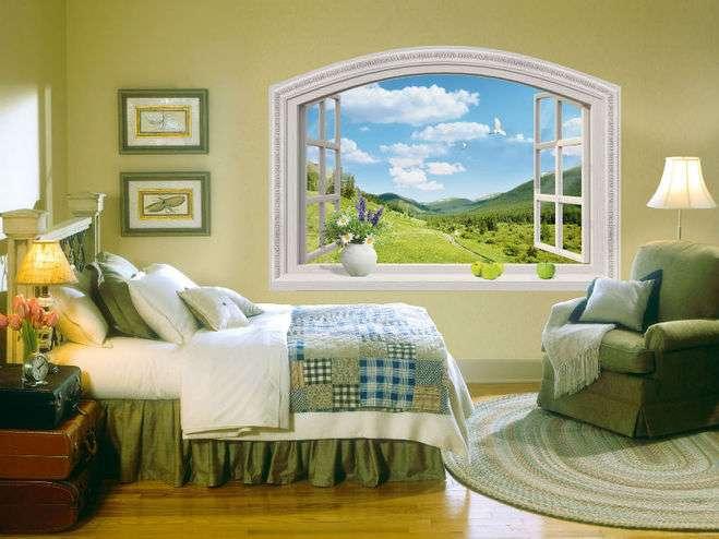 Фальш-окно в интерьере: фото и примеры
