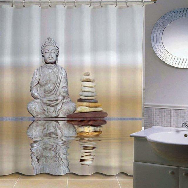 Шторка для ванной в стиле «Дзен» VKTECH