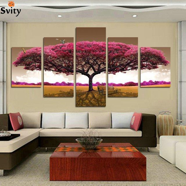 Модульная картина для гостиной с красивым деревом Svity