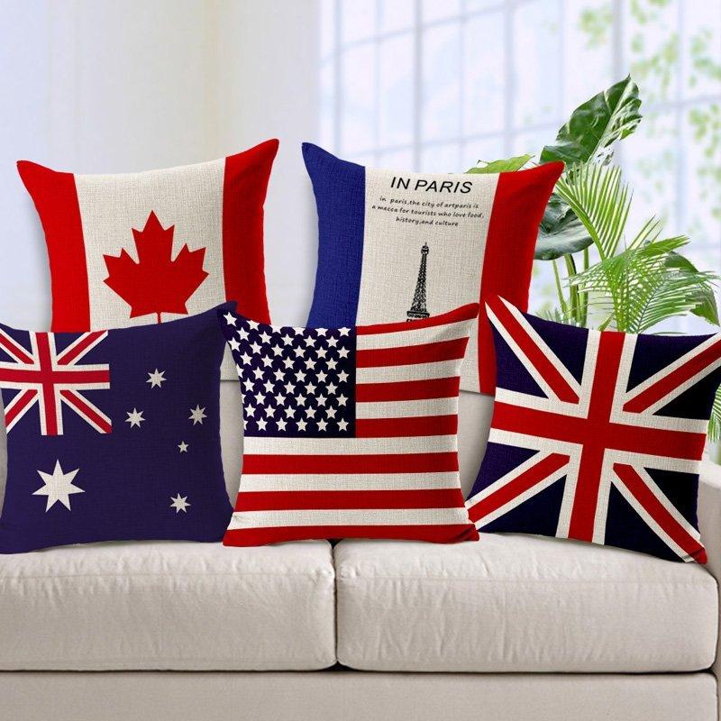 Мире-Национальный-флаг-Белье-Наволочки-Великобритания-Сша-Австралия-Флаги-Декоративные-Наволочки-для-Диван-BZT-96