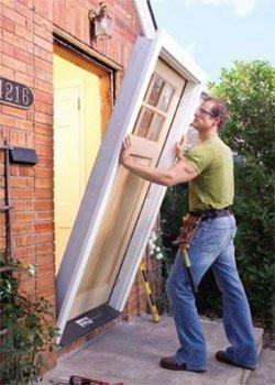 Монтаж дверной коробки, установка дверной коробки
