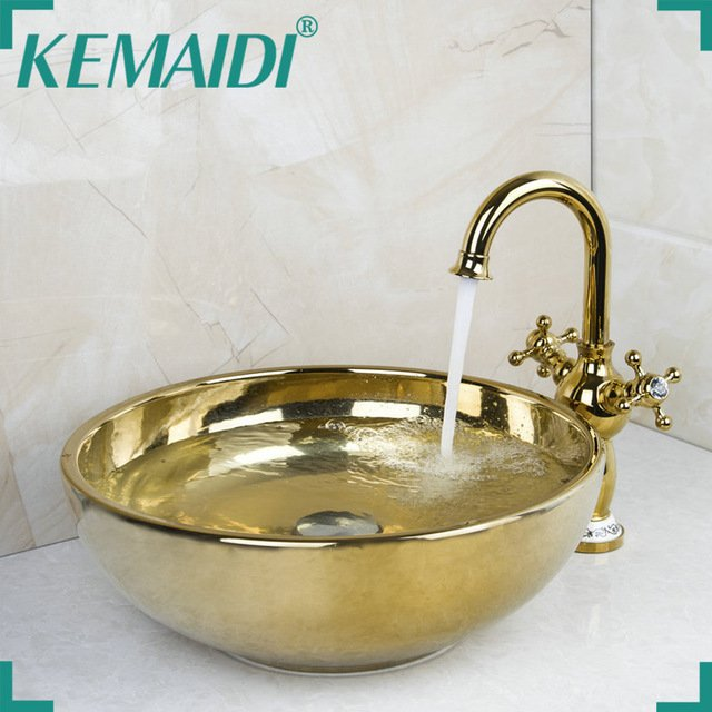 Накладная раковина (12 литров) с краном Kemaidi
