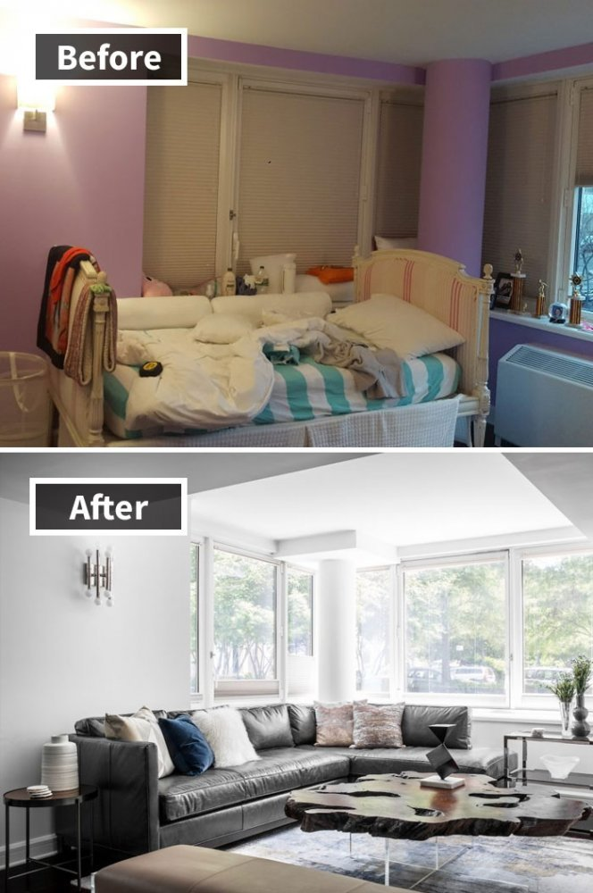 Ремонт до и после фото 22
