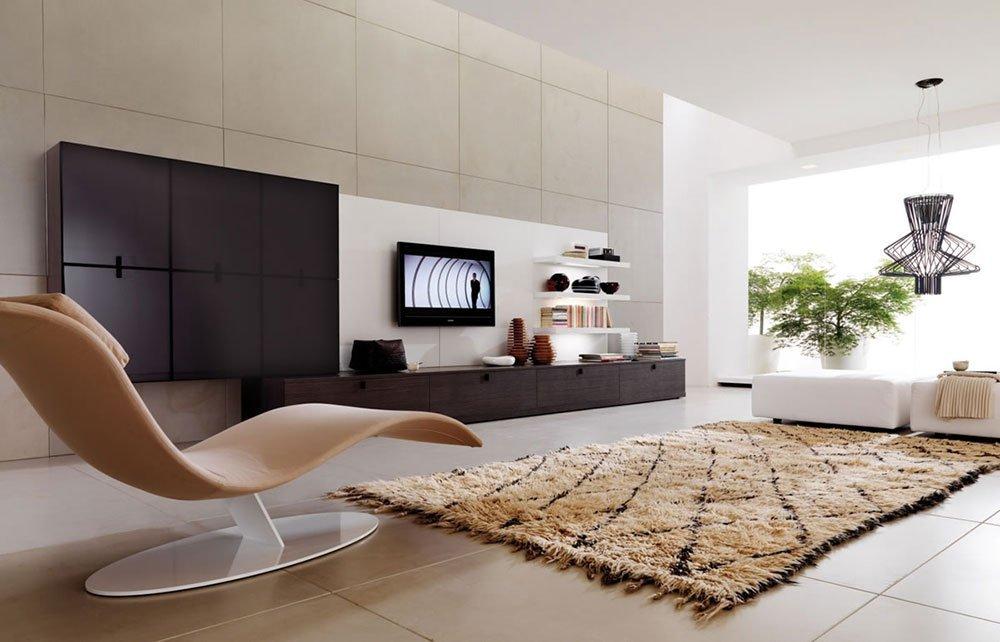 Современная гостиная в стиле модерн фото 1