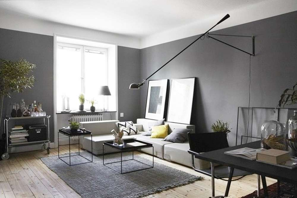 Серый цвет в интересном интерьере в стиле минимализм
