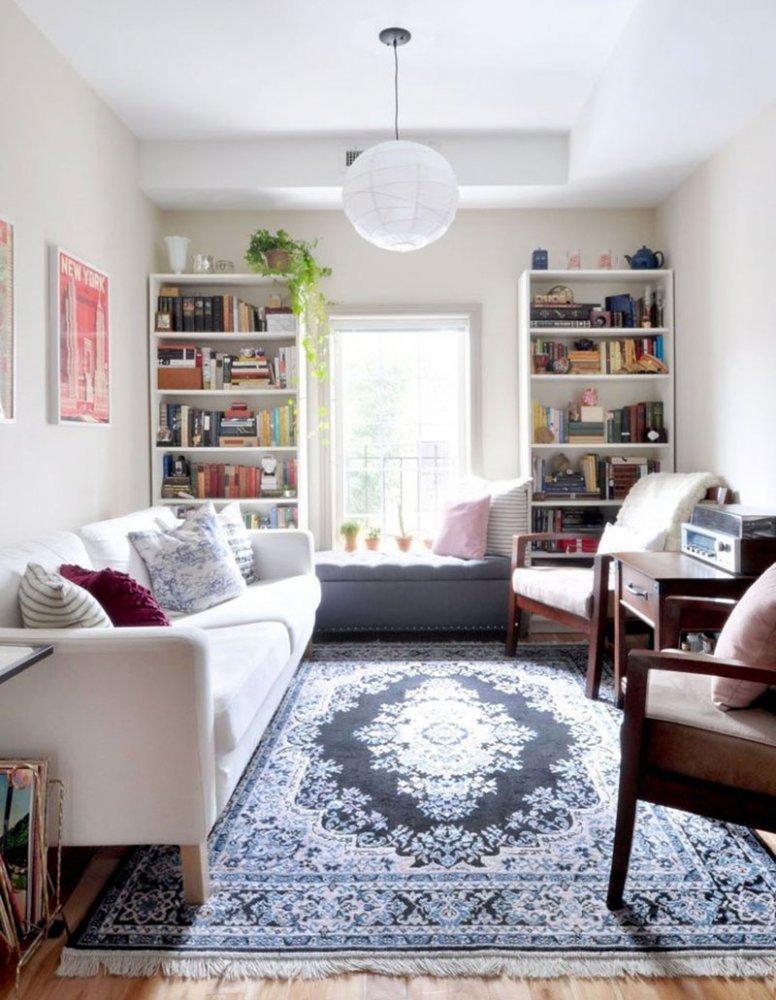 Дизайн узкой комнаты фото 13