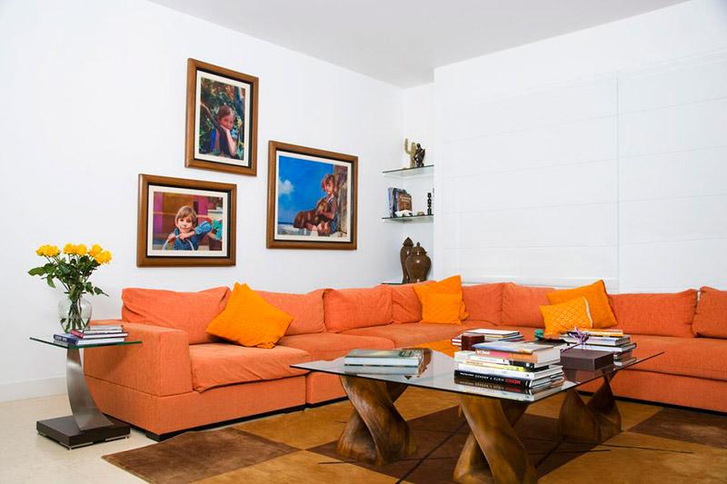 Оранжевый цвет как яркий акцент интерьера: фото и идеи