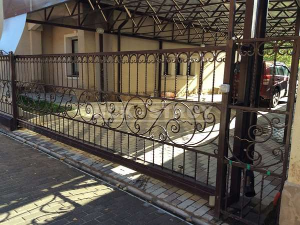 Откатные ворота от компании Ник-Строй