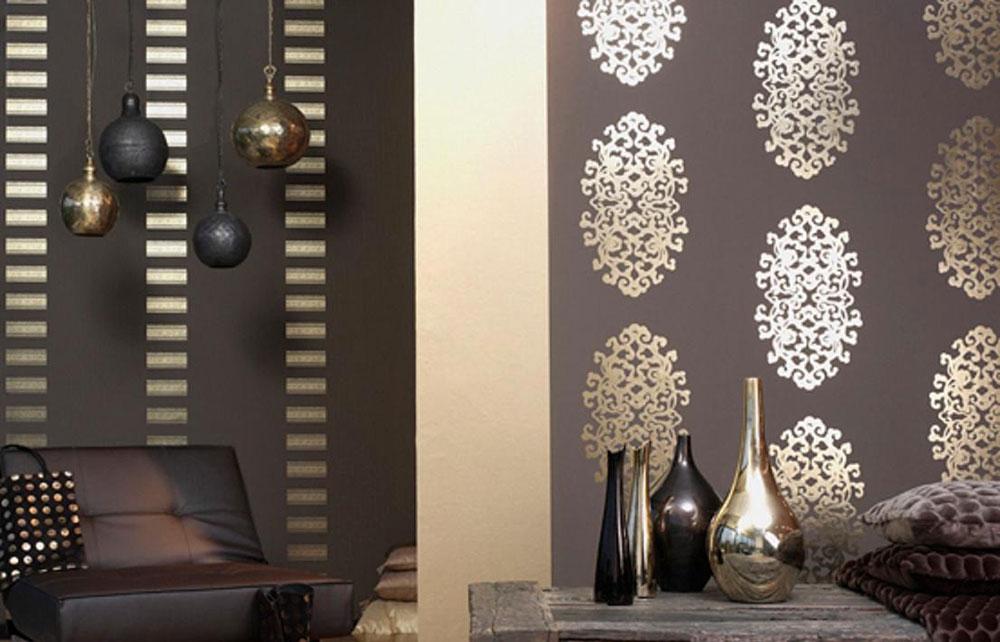 Варианты комбинирования обоев в интерьере гостиной