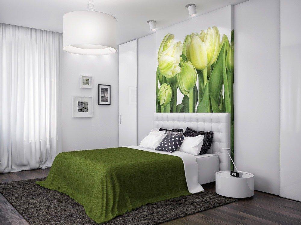 Сочетания зеленого цвета в интерьере спальни фото 6