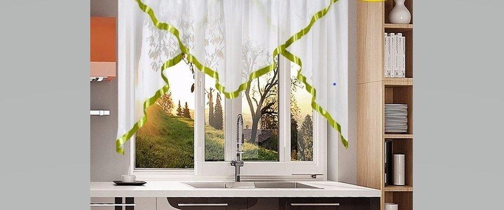 5 невесомых занавесочек для кухни с AliExpress