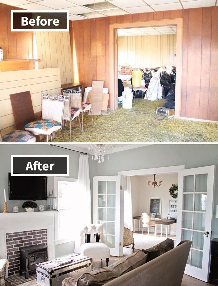Ремонт до и после фото 3