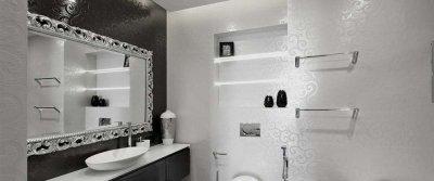 Ванная в стиле арт-деко: особенности оформления