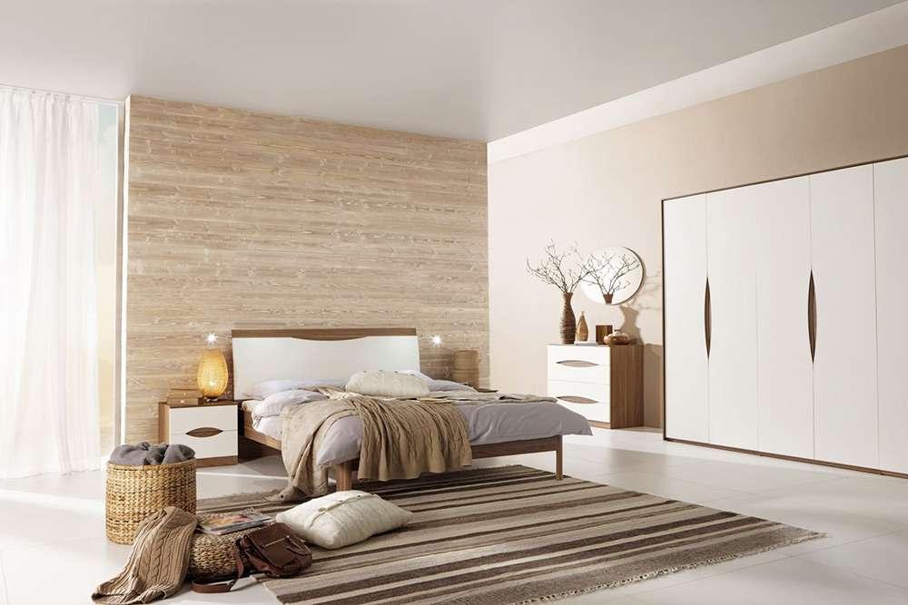 Красивый интерьер спальни в современном стиле