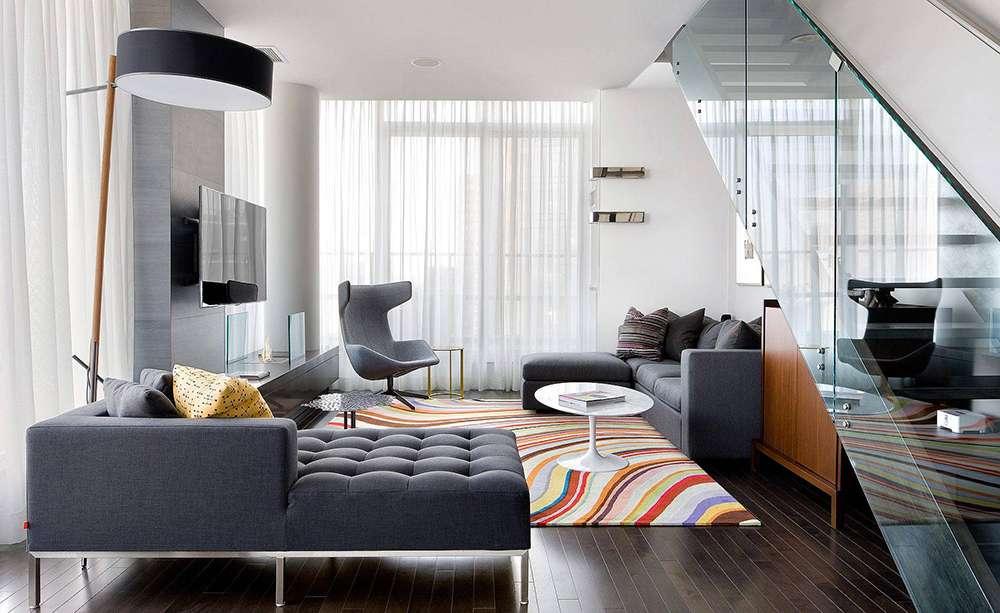 Серый цвет в интерьере в стиле модерн