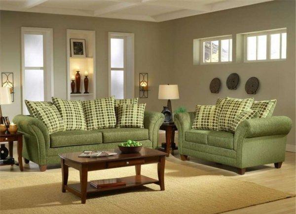 Оливковый диван в интерьере. Как оливковый диван смотрится в интерьере?