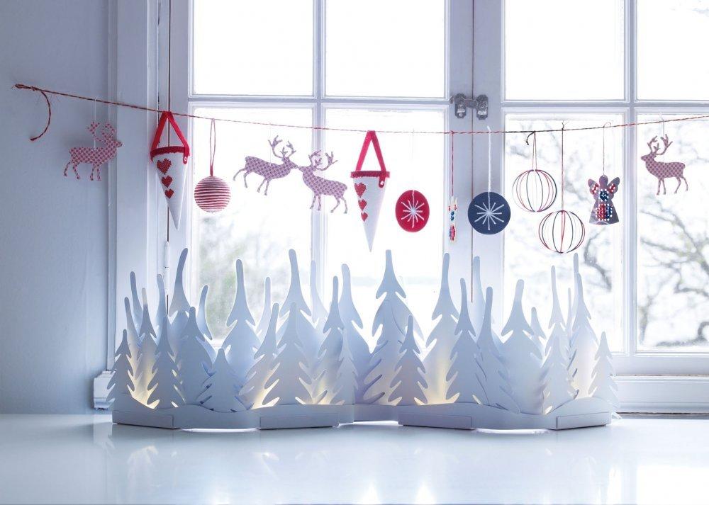 Украшаем окна на новый год идеи