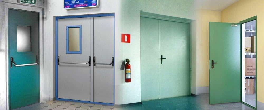 двери металлические противопожарные офисные