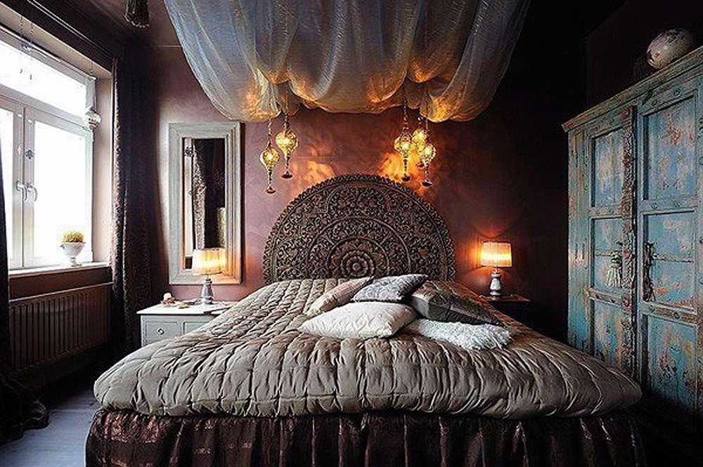 Оригинальный дизайн спальни в этническом стиле