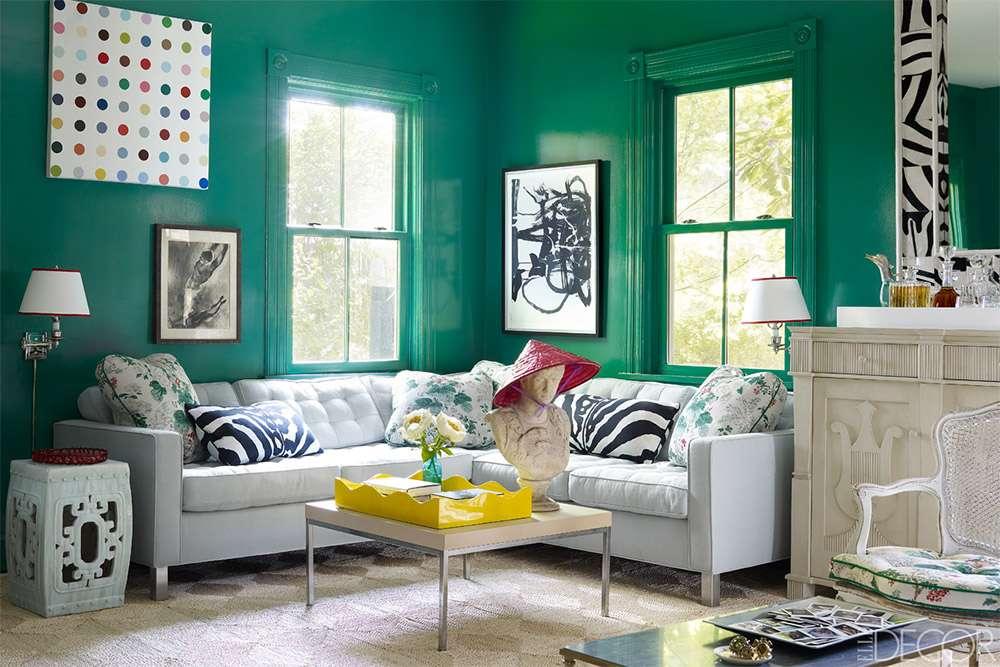 Сочетание зеленого цвета в интерьере