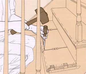 Проступи лестницы, ширина проступи, лестничные проступи