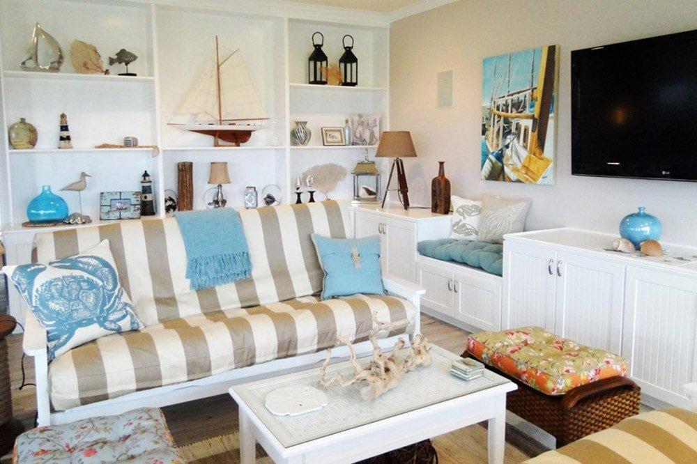 Акцент на декоративные подушки