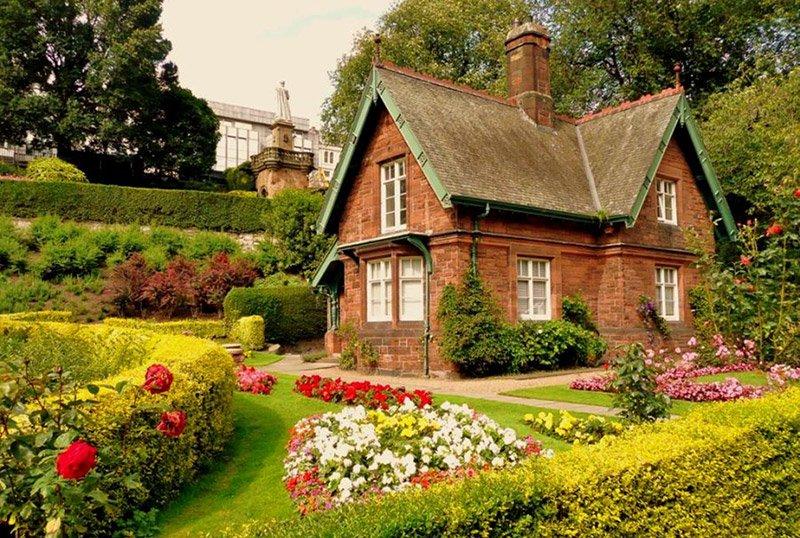 дачный дом в английском стиле фото укладки